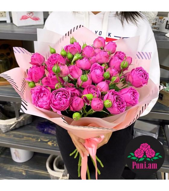 Վարդագույն փնջային վարդեր